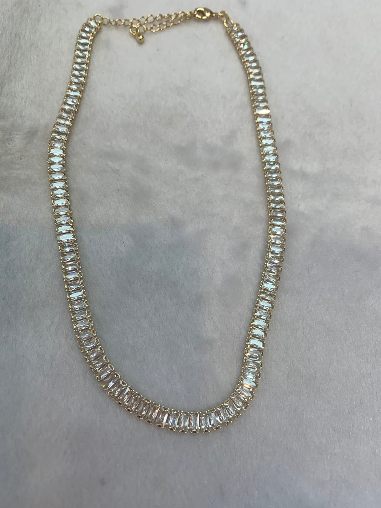 Image of Diamond Baguette Choker