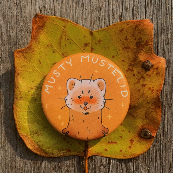 Image of musty mustelid button