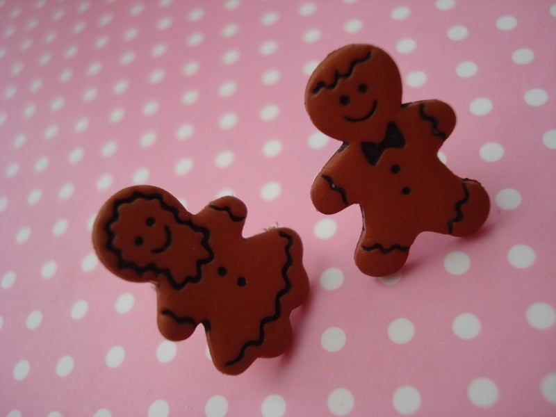 Image of Gingerbread Earrings Men/Women/Couple