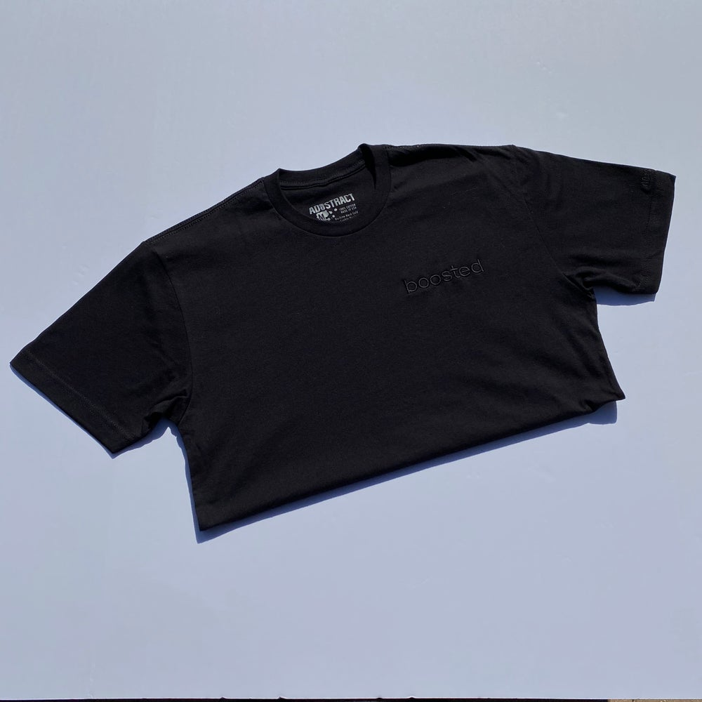 "BOOSTED EMBROIDERY ""BLACKOUT"" T-SHIRT & HOODY"