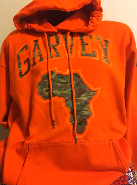 Image of GARVEY CAMO ORANGE Orange Hoody