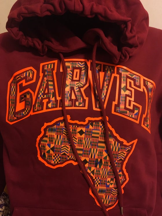 Image of GARVEY KENTE ORANGE Maroon Hoody