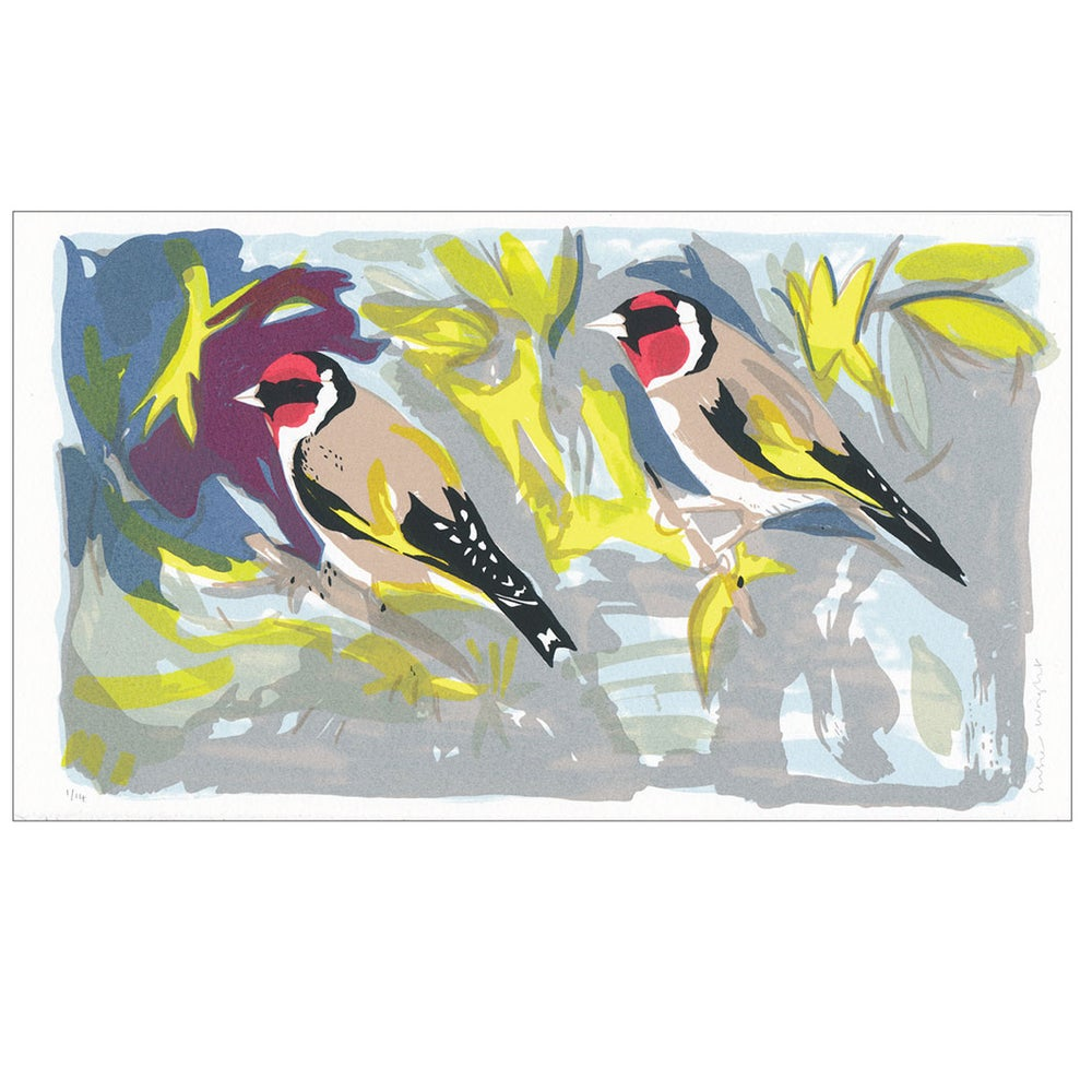 Image of Goldfinches screen print