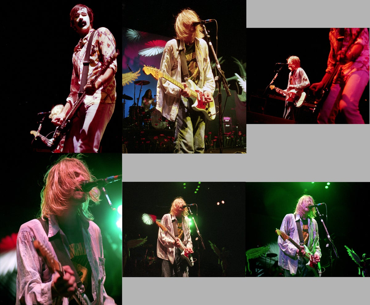 Image of NIrvana Halloween 1993 Superfan Set of 24 8x10 prints