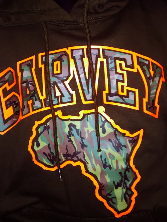 Image of GARVEY CAMO ORANGE Dark Olive Hoody