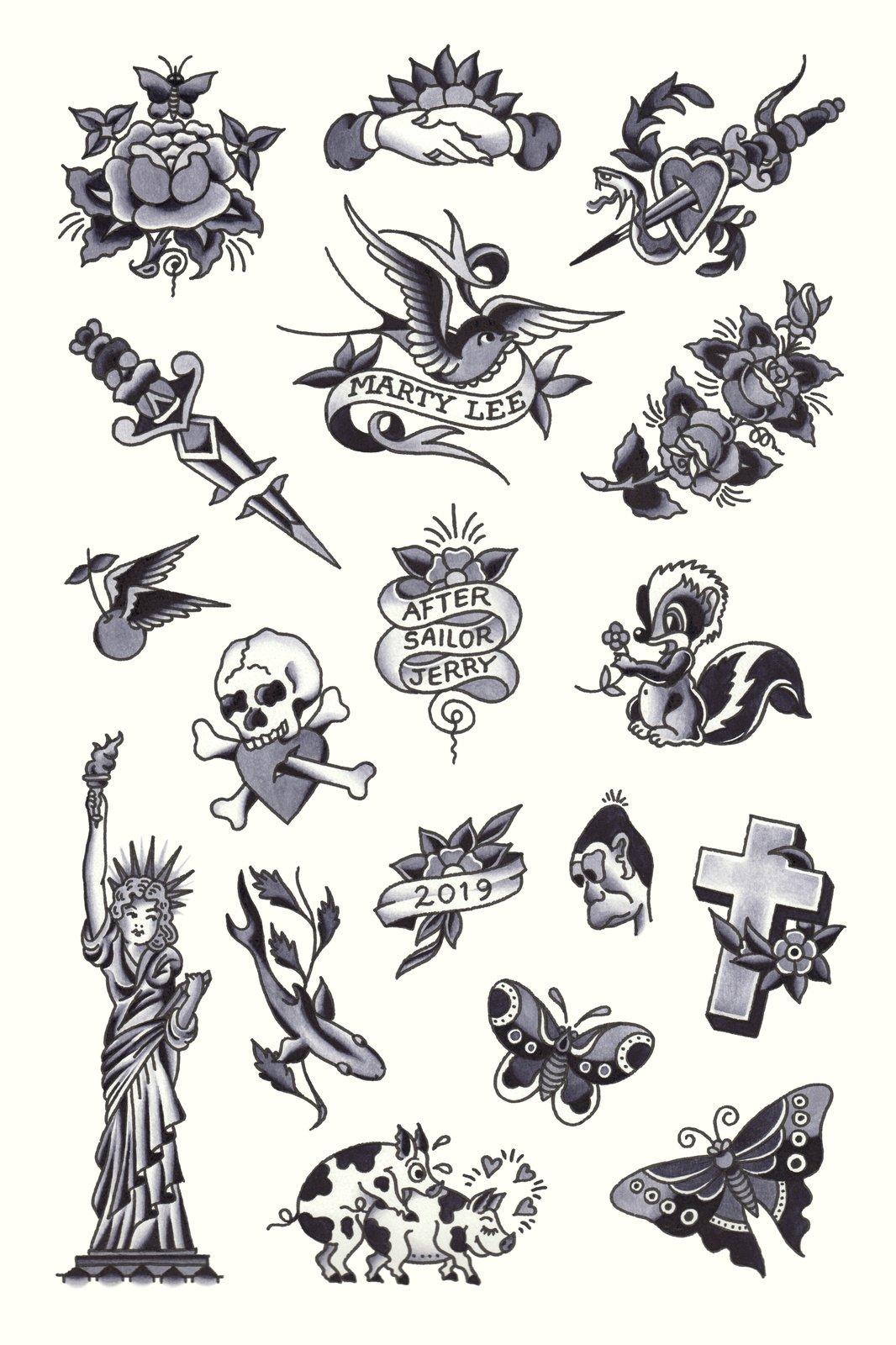 Sailor Jerry Flash Print Marty Lee