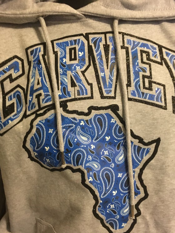 Image of GARVEY ROYAL BLUE PAISLEY Black Diamonds Hoody