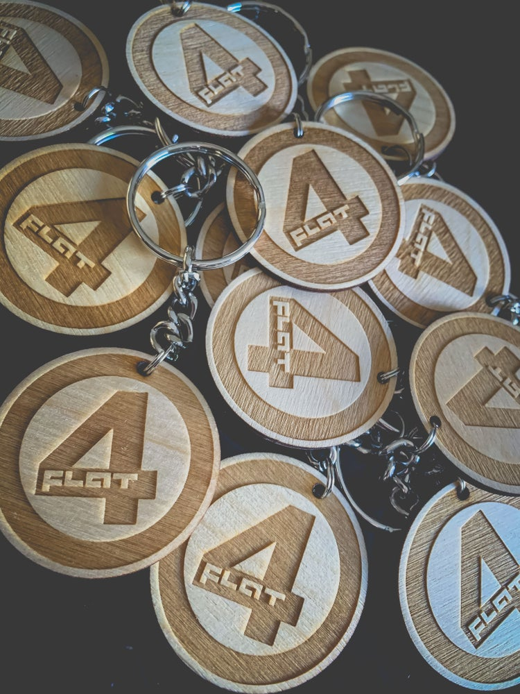 Image of Flat 4 Wooden Key Chain