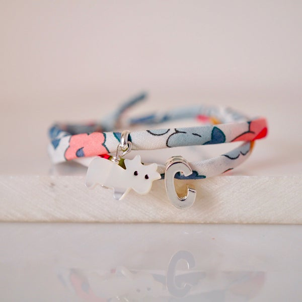 Image of Personalised cow bracelet