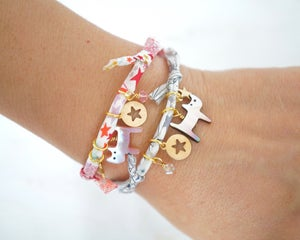 Image of Cat and star Liberty print bracelet