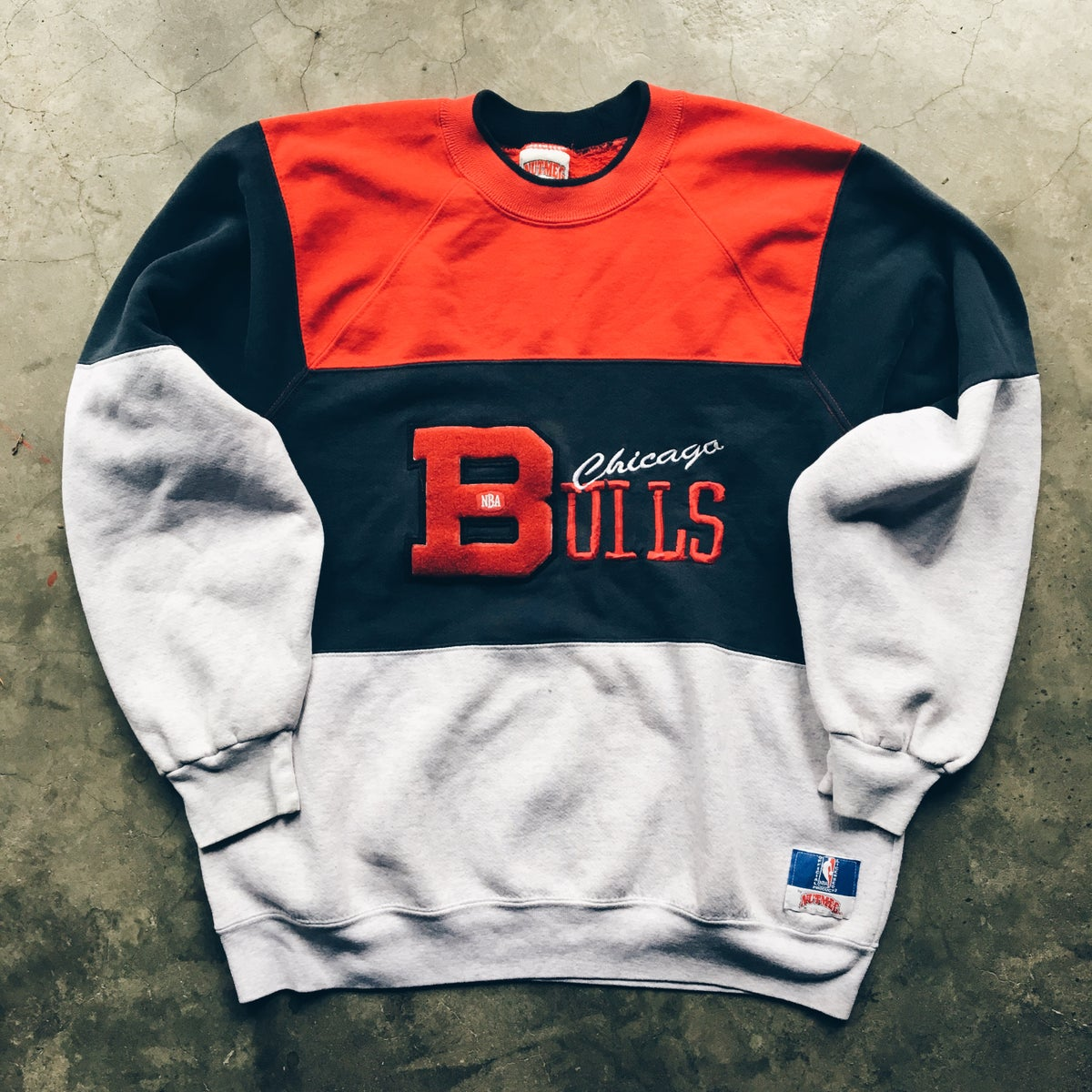 Image of Original 90's Nutmeg Mills Bulls Crewneck.