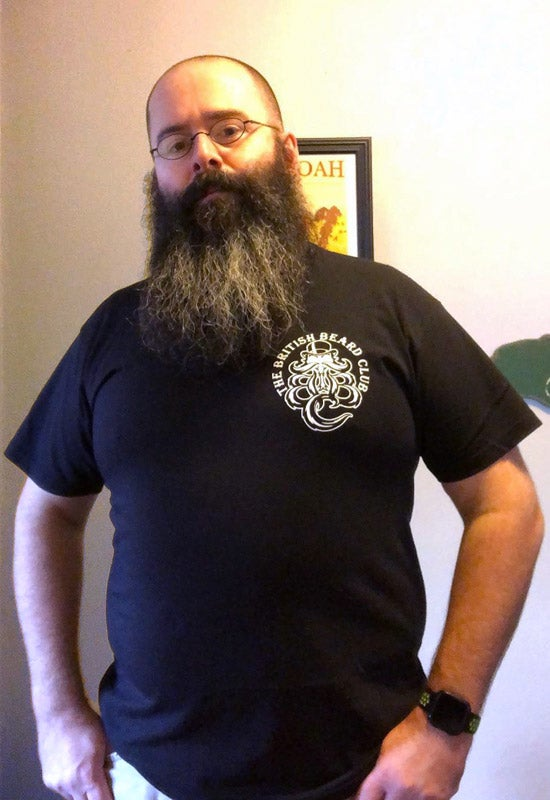 Image of The British Beard Club Black T-shirt