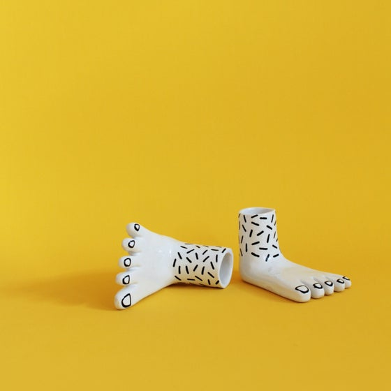 Image of PAIR OF FEET - CANDLE HOLDER