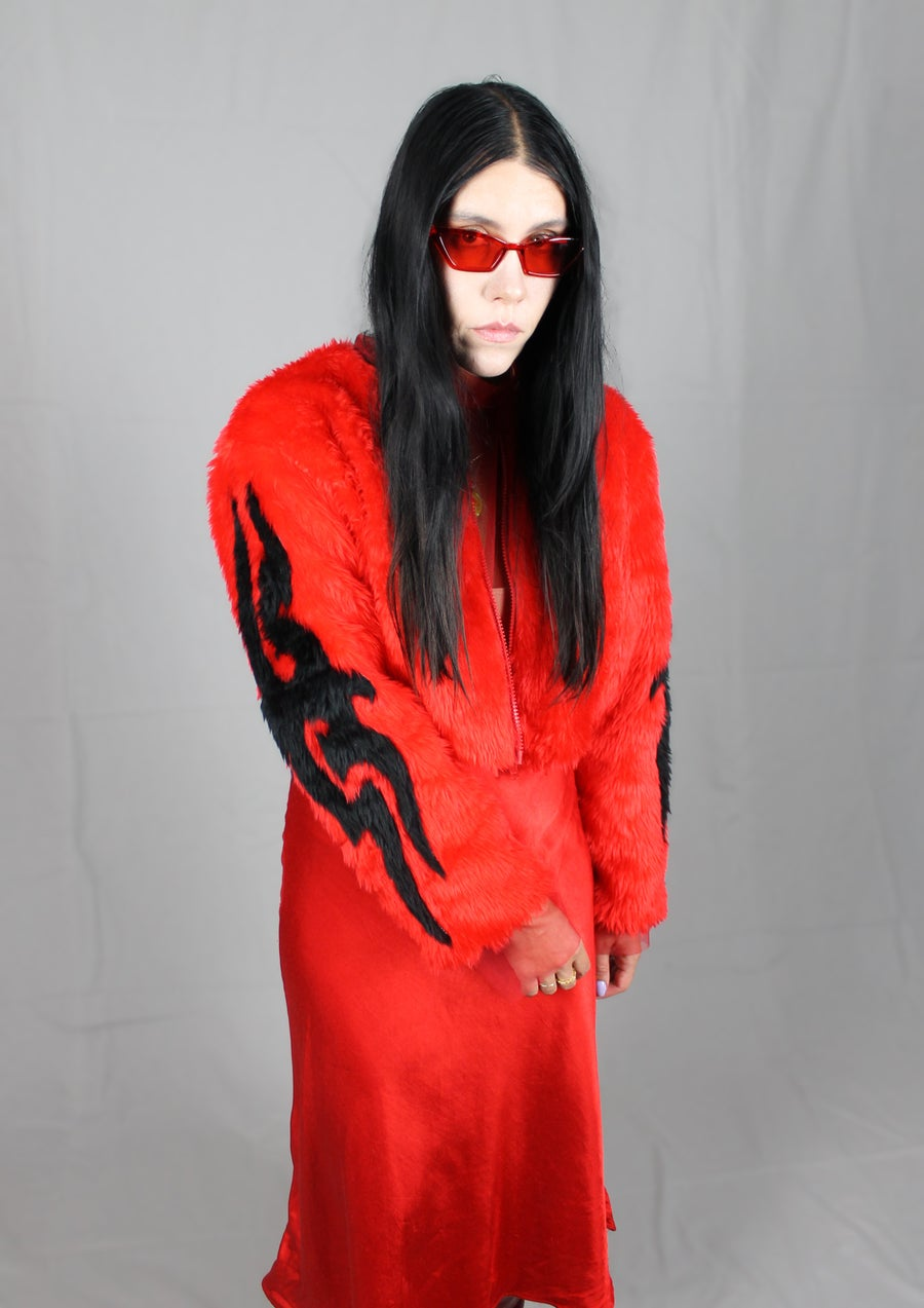 Image of TRIBAL jacket in red and black