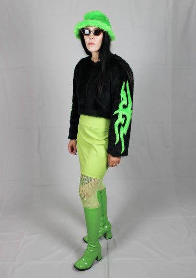 Image of TRIBAL jacket in black and green