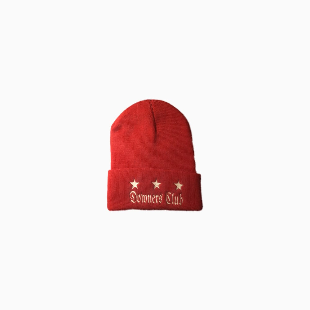 Image of Downers Club Flag Beanie (Red)