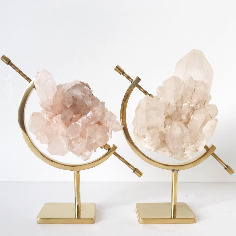 Image of Pineapple Quartz no.51 + Brass Arc Stand