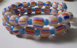 Image of Candy Cane Memory Wire Bracelet