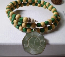 Image of Green and Yellow Memory Wire Bracelet