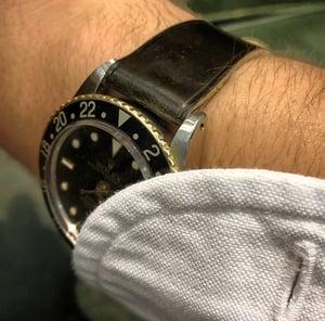 Image of Dark Cognac Horween Shell Cordovan classic watch strap