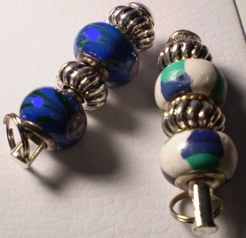 Image of Blue and White Pendant Pair