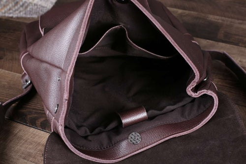 Image of Vintage Handmade Full Grain Leather Backpack, Travel Backpack, Rucksack 9025