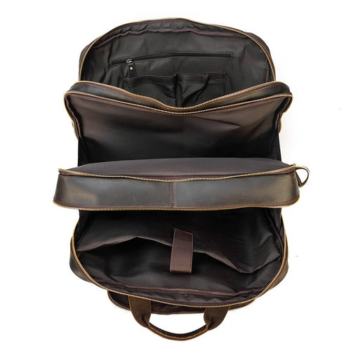 Image of Handmade Full Grain Leather Briefcase, Luggage Bag, Travel Bag, Laptop Briefcase 7289