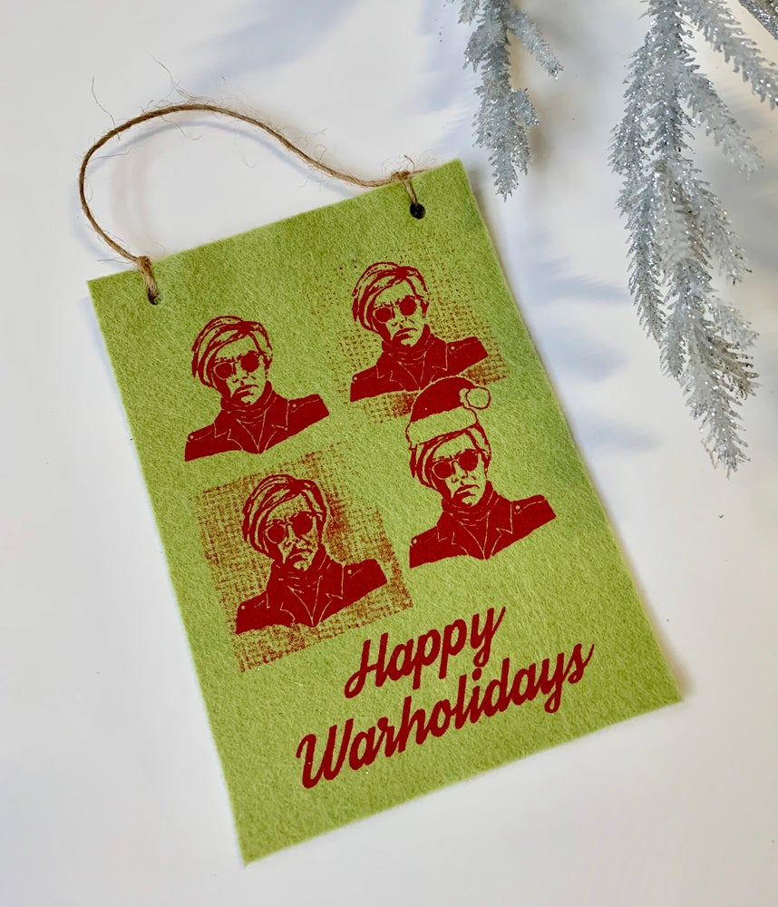 Image of Happy Warholidays Mini Banner