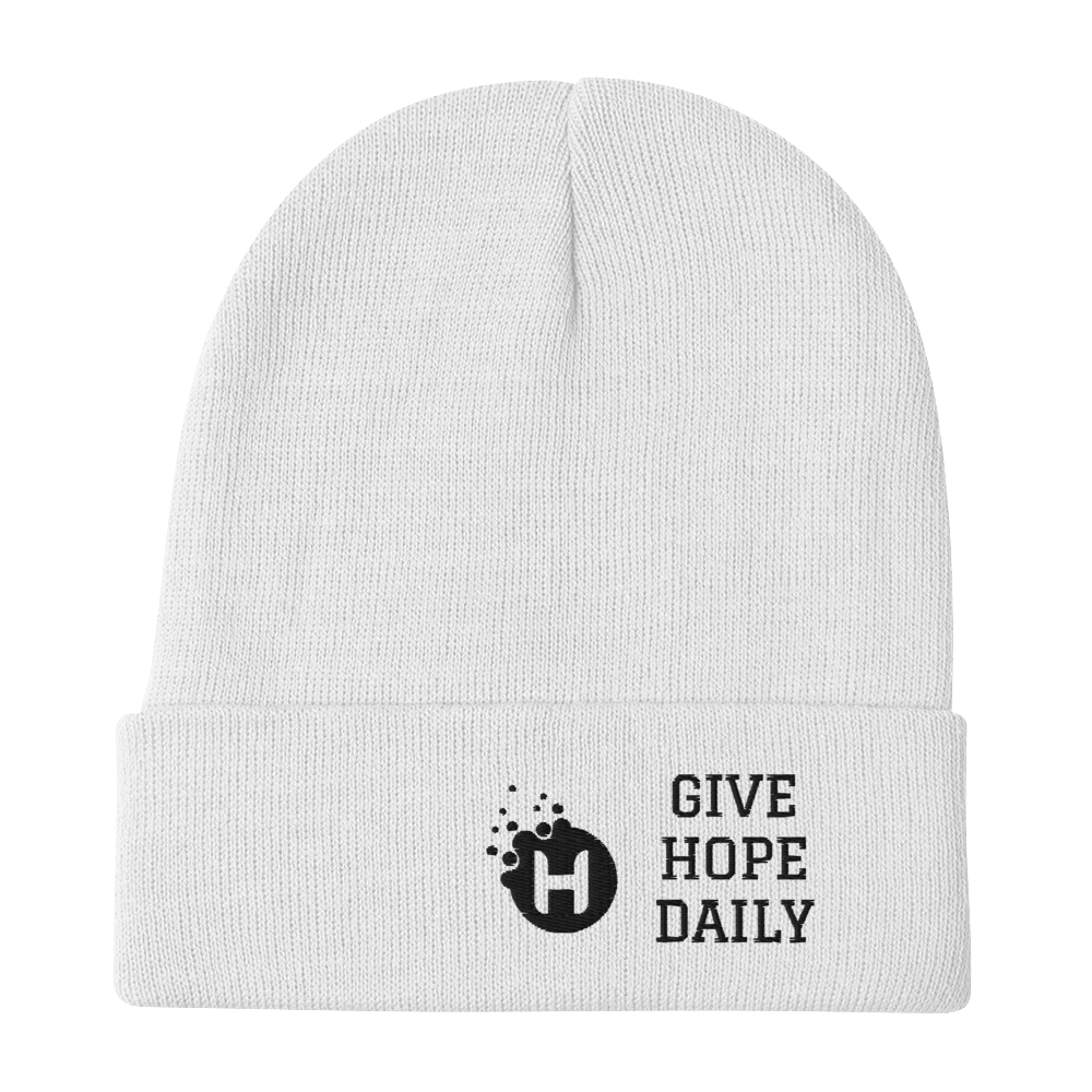 Image of Give Hope Daily Beanie (white)