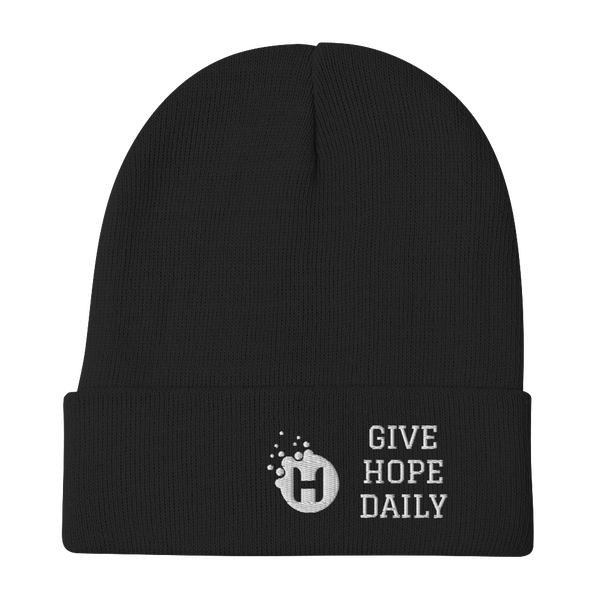 Image of Give Hope Daily Beanie (black)