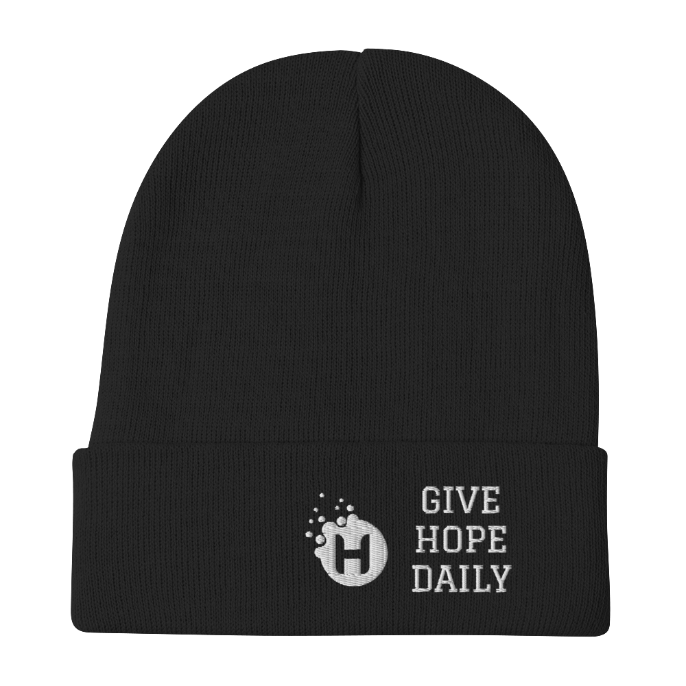 Give Hope Daily Beanie (black)