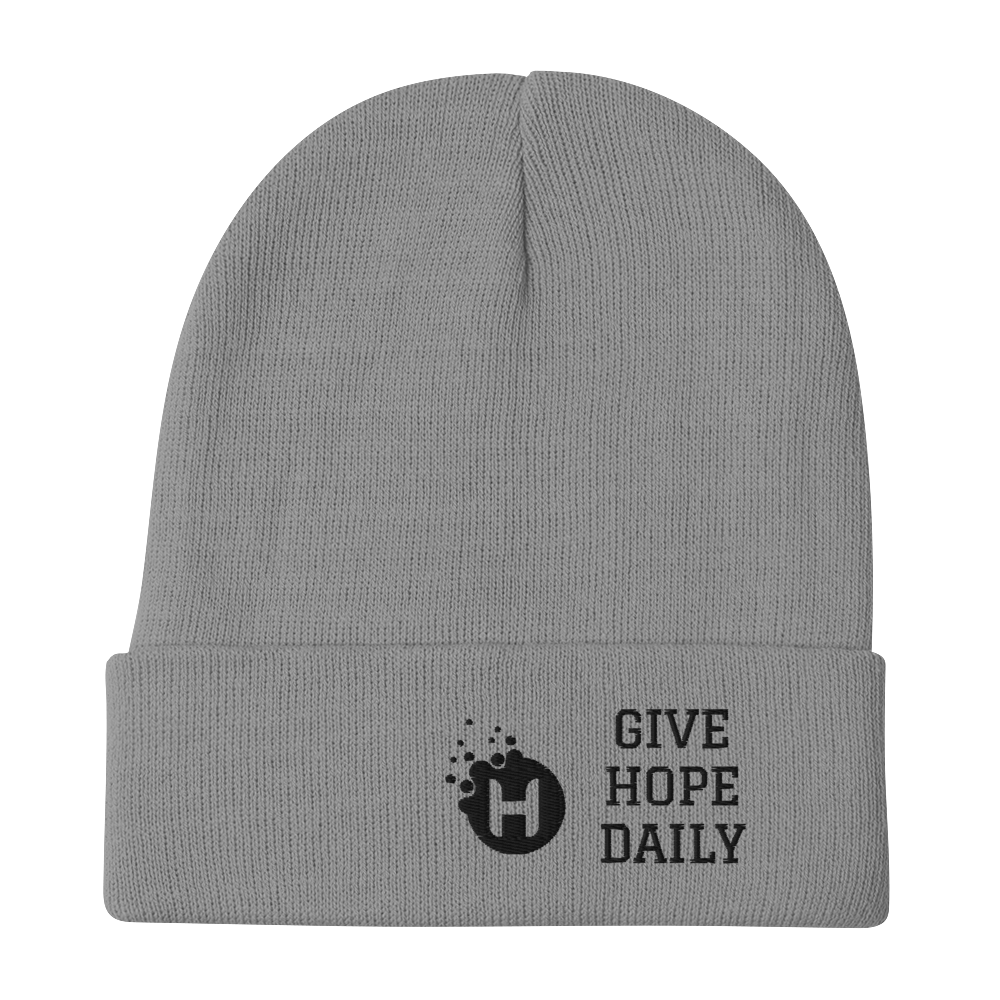 Give Hope Daily Beanie (grey)