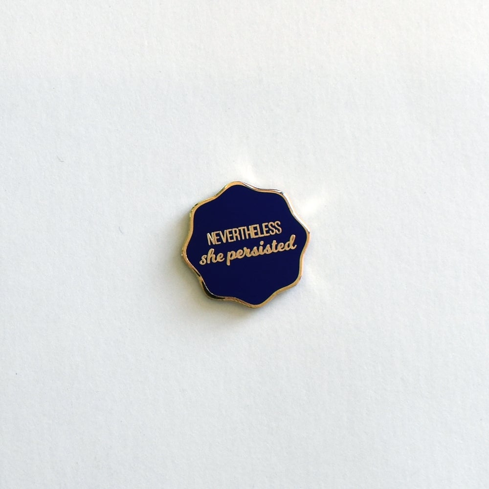 Image of Nevertheless She Persisted Magnetic Pin or Needleminder