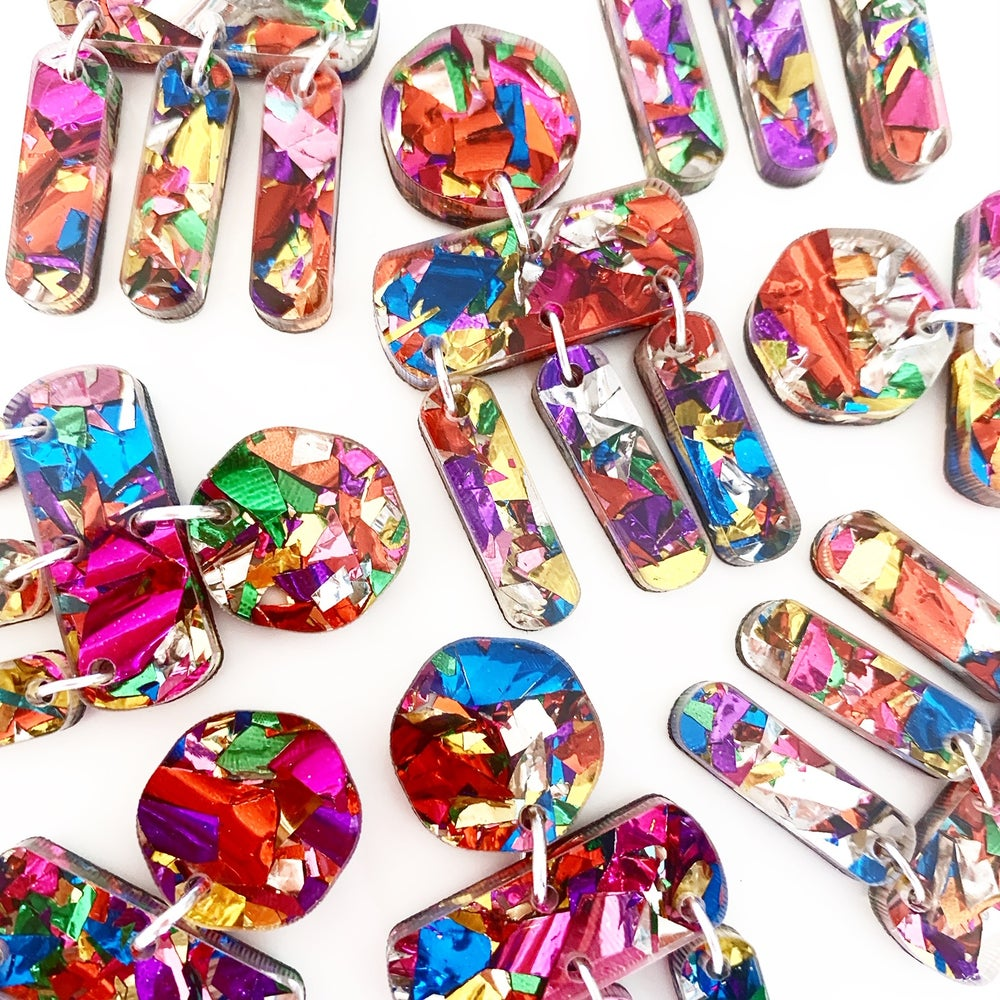 Image of Confetti Party Dangles