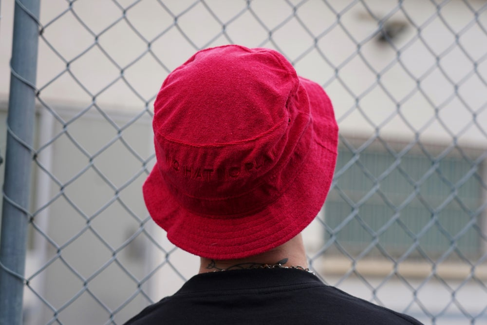 No Hat No Play Bucket Hat (Red)