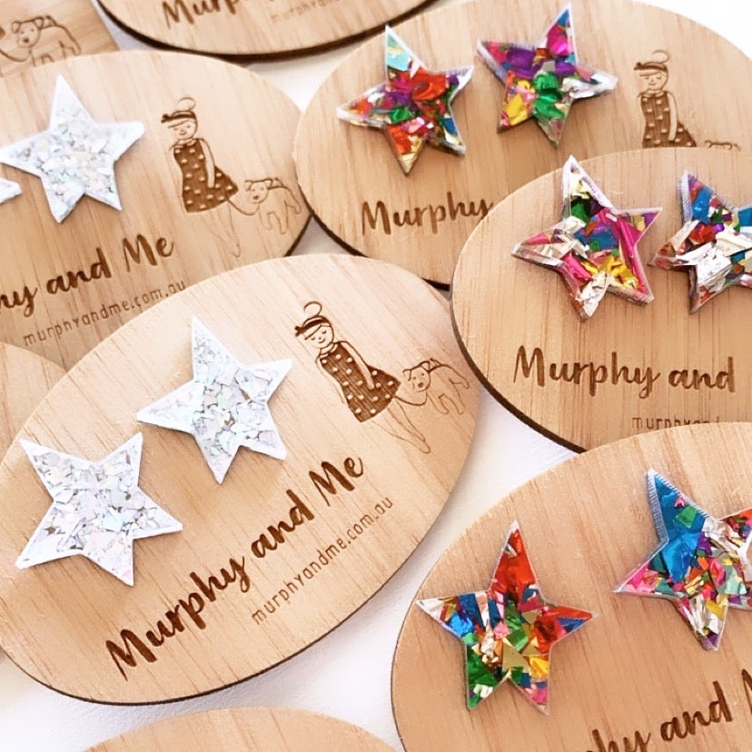 Image of Sparkly Star Studs