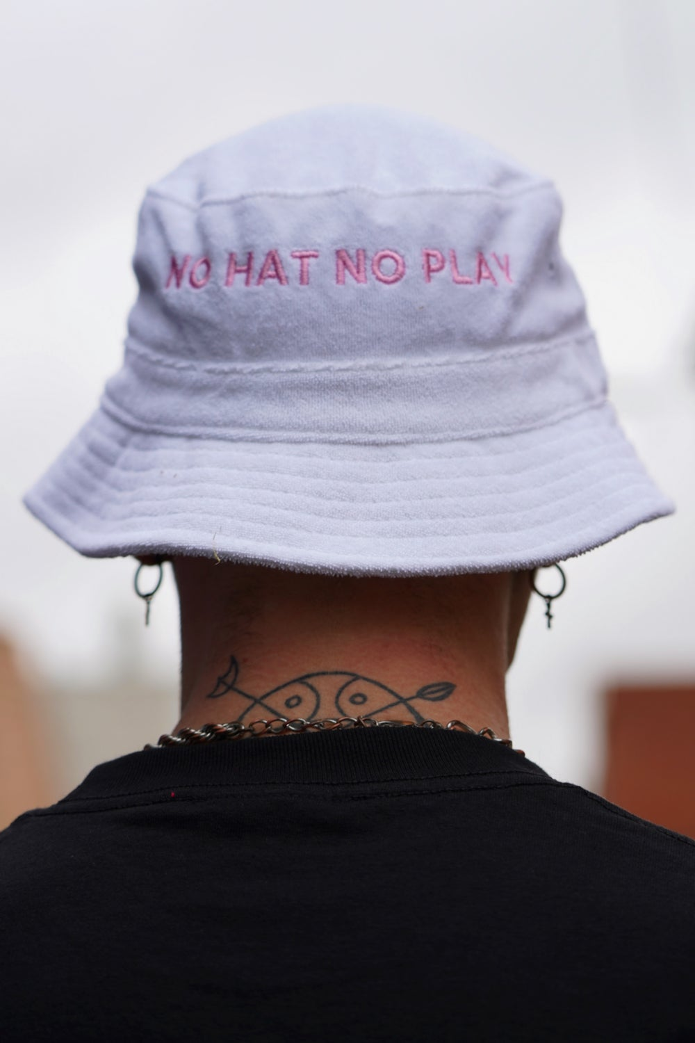 Image of No Hat No Play Bucket Hat (White)