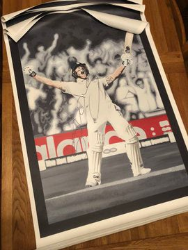 Image of BEN STOKES SIGNED CANVAS PRINT
