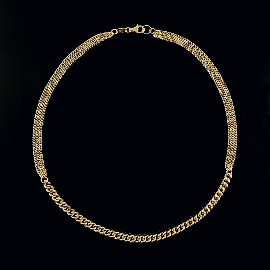 Image of COCO Necklace / 24k gold-coated silver