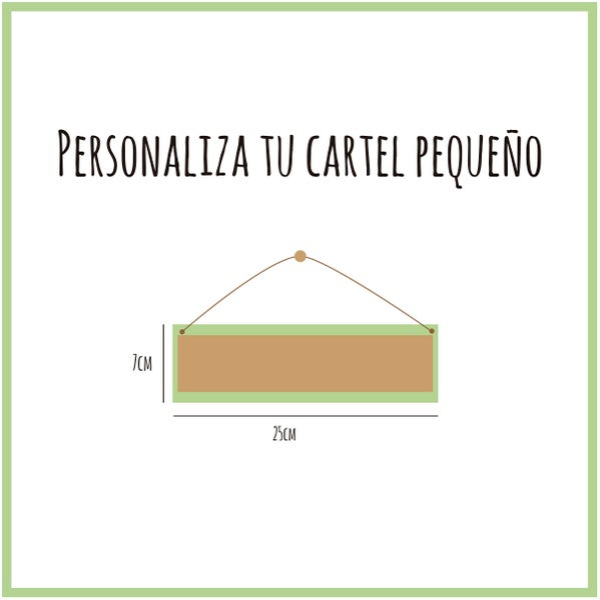Image of Cartel personalizado pequeño