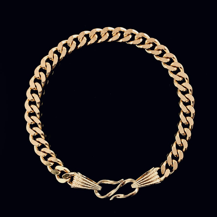 Image of LEAH bracelet / 24k gold-coated silver