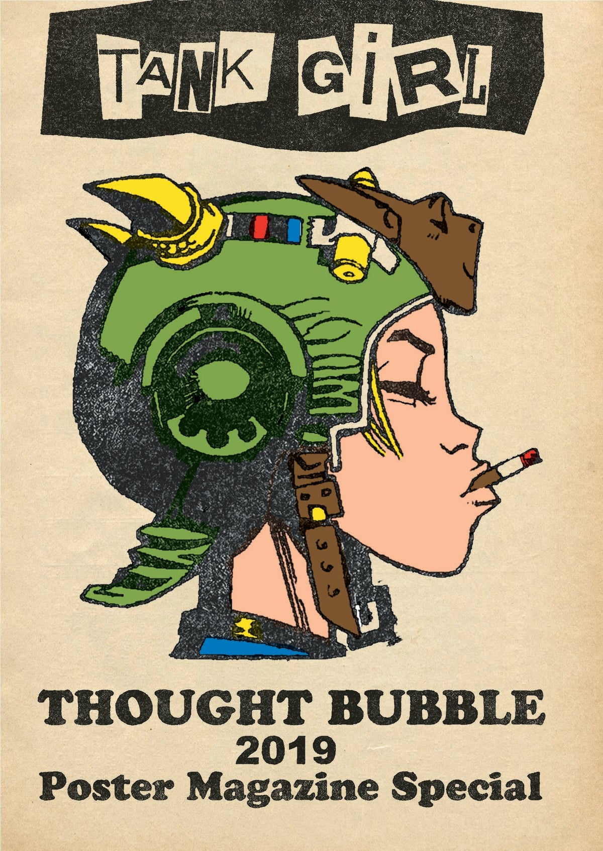 Image of Tank Girl THOUGHT BUBBLE Poster Magazine Special (with mini colouring book!)