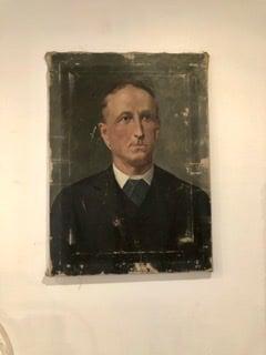 Image of Portrait huile sur toile
