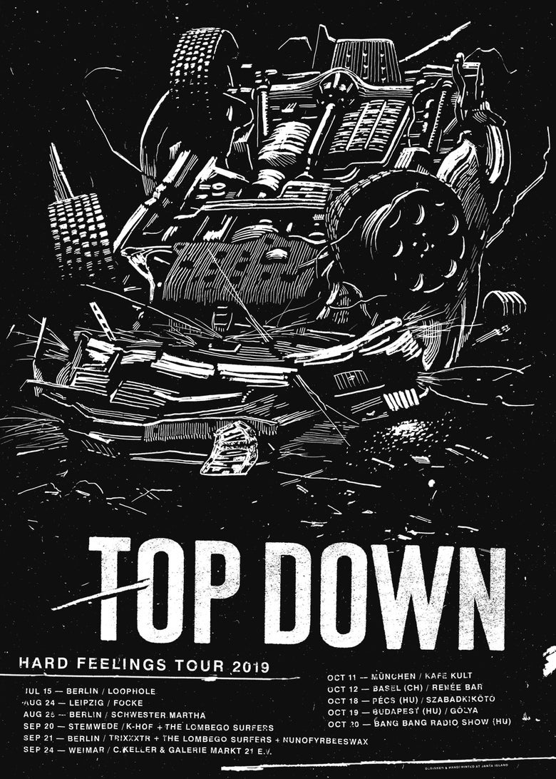 Image of »Top Down« Tour Poster