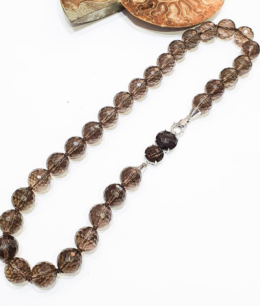 Image of Smoky Quartz Necklace with One-Off Clasp