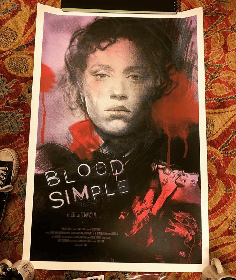 Image of BLOOD SIMPLE SCREEN PRINT