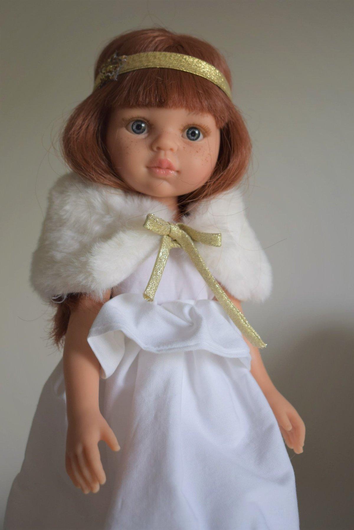 Image of COLLECTION poupées de Noël-JULIETTE - Poupée rousse avec sa tenue