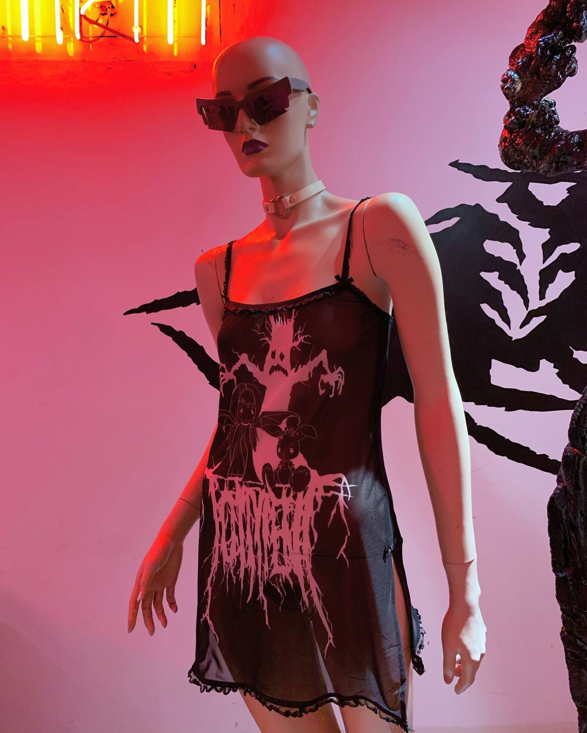 Image of Purgatory /// Torment' mesh dress
