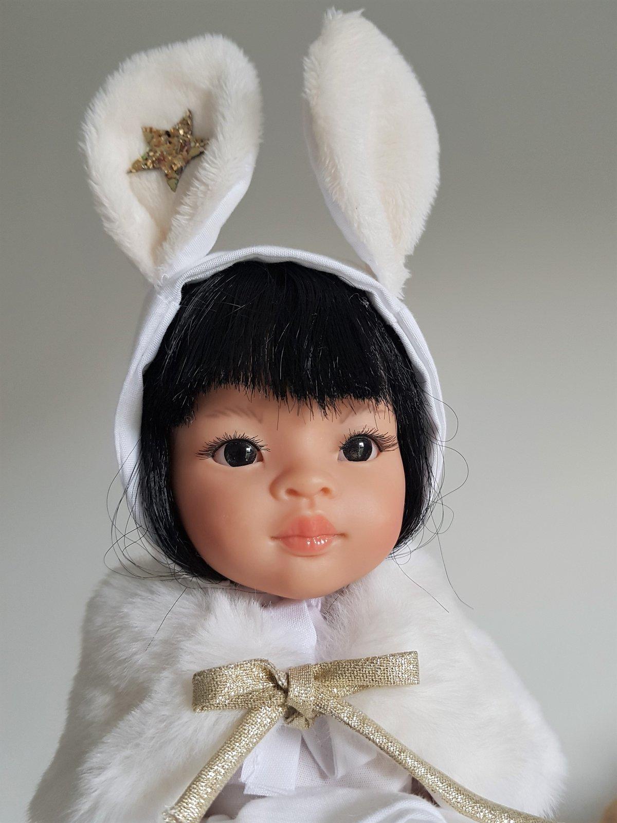 Image of COLLECTION poupées de Noël-BEGUIN petit lapin pour poupées de noël
