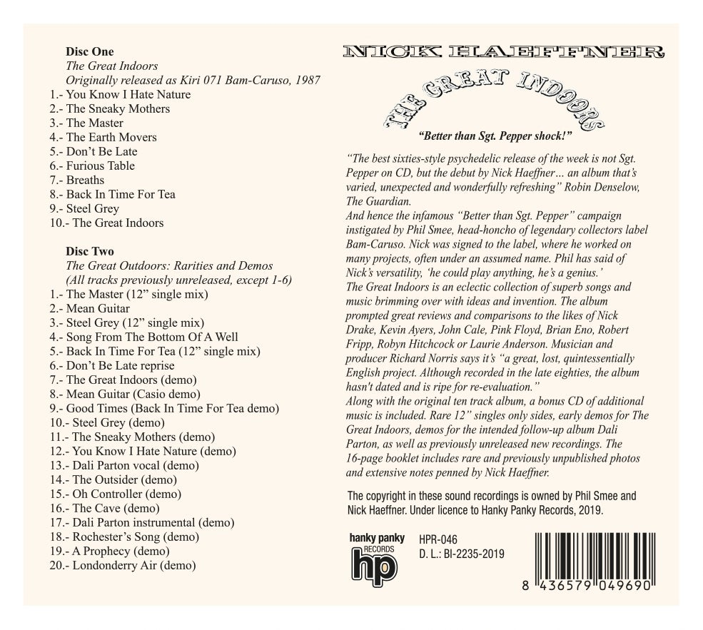 Image of Nick Haeffner - The Great Indoors (2CD)